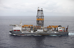 ATLANTIC OCEAN 9NOV14 - View of the Rowan Reniassance drill ship in the Atlantic ocean. The 229-metre long ship, chartered by Spanish oil company Repsol, is capable of drilling wells to depths of 40,000 feet in waters of up to 12,000, and will begin operations off the Canary Islands.<br /> <br /> jre/Photo by Jiri Rezac / Greenpeace<br /> <br /> &Acirc;&copy; Jiri Rezac 2014