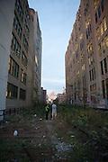 Remnants of habitation on the High Line.