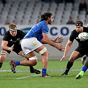 The New Zealand All Blacks defeated Manu Samoa 15's 83-0 at Eden Park, Auckland, New Zealand.  Photo by Barry Markowitz, 6/16/17