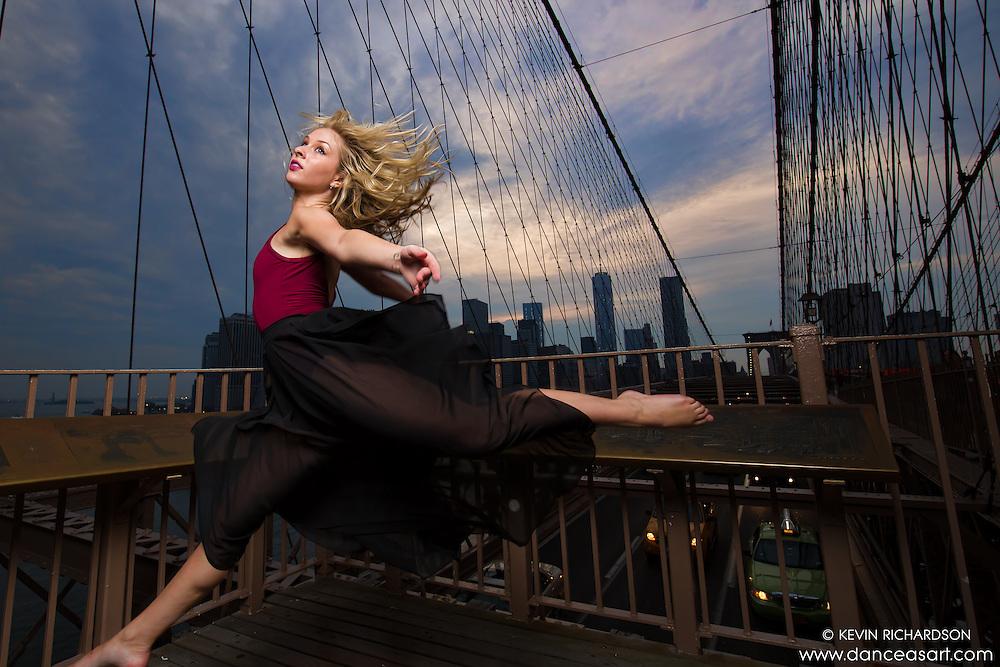 Kylie Levine. Brooklyn Bridge. Dance As Art- The New York Photography Project