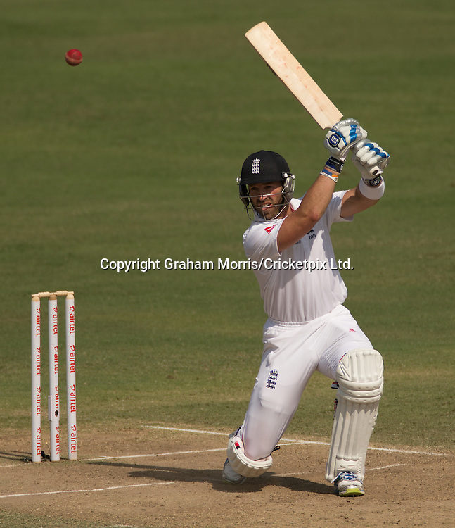 Matt Prior bats during the first Test Match between India and England at the Motera Stadium, Ahmedabad. Photograph: Graham Morris/cricketpix.com (Tel: +44 (0)20 8969 4192; Email: sales@cricketpix.com) Ref. No. 12539m18  17/11/12