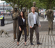 Meghan Markle & Prince Harry At Famine Memorial