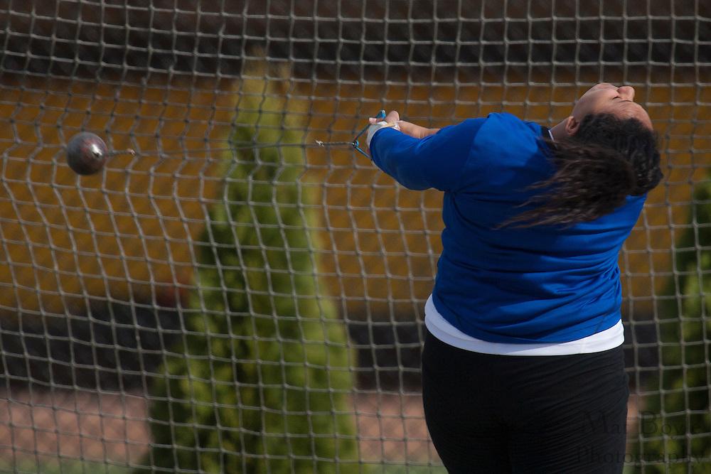 Rowan University Women's track and field host Georgian Court University on Thursday April 12, 2012 in Glassboro, NJ. (photo / Mat Boyle)