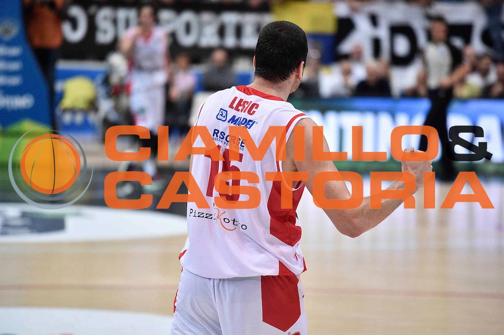 Lesic Sava<br /> Dolomiti Energia Trento - Grissin Bon Reggio Emilia<br /> LegaBasket 2016/2017<br /> Ferrarai 30/10/2016<br /> Foto Ciamillo-Castoria