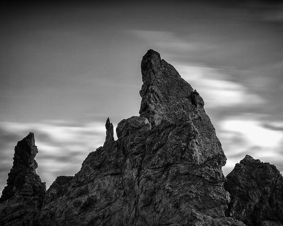 Oregon coastal fine art landscape photographs in black and white.