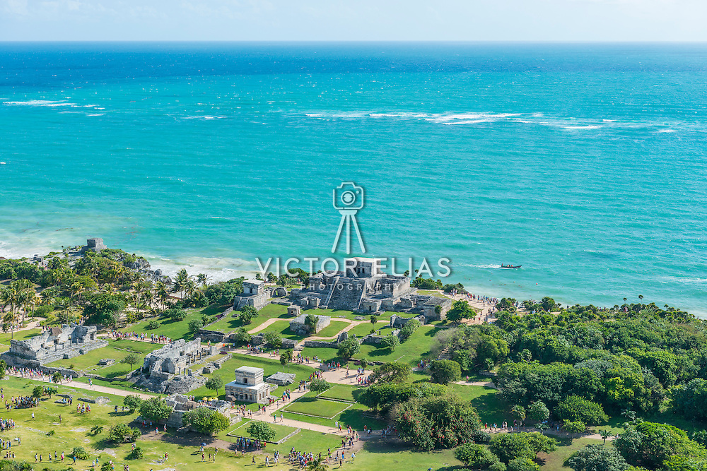 Tulum Archeological site. Quintana Roo. Mexico.