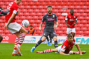 Leeds United midfielder Mateusz Klich (43) reacts during the EFL Sky Bet Championship match between Barnsley and Leeds United at Oakwell, Barnsley, England on 15 September 2019.