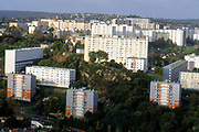 France, Normandy.  Cherbourg, Modern Housing Estate.