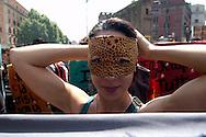 Roma 6 Maggio 2011.Sciopero Selvaggio  di studenti e lavoratori precari contro le politiche del governo Belusconi sul lavoro.Rome May 6 th 2011  .Wild Strike, of students and precarious workers, against the politics of the government Belusconi on the job  ...