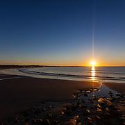Today's  Summer sunrise at Narragansett Town Beach,  .  August  11, 2013.