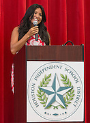 Houston ISD Trustee Diana Davila during a stop of the Listen & Learn tour at Marshall Elementary School, September 20, 2016.