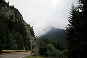 The mountains around the Bicaz-Stejaru Hydroelectric dam, Neamt County, Romania