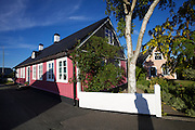 Simrishamn. Traditional houses.