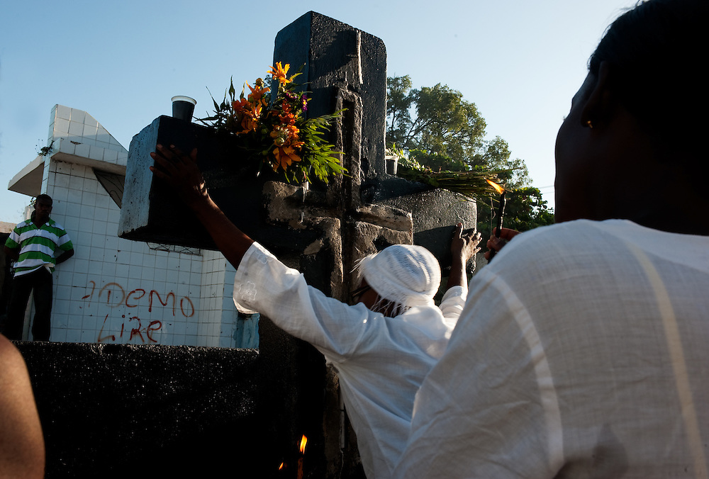 In a Port au Prince cemetery