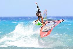 26.07.2015, Costa Calma, Fuerteventura, ESP, PWA Windsurfing Freestyle Grand Slam, im Bild Van der Eyken Dieter B-35 // during the PWA Windsurfing Freestyle Grand Slam at the Costa Calma in Fuerteventura, Spain on 2015/07/26. EXPA Pictures © 2015, PhotoCredit: EXPA/ Eibner-Pressefoto/ Roskaritz<br /> <br /> *****ATTENTION - OUT of GER*****
