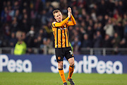 Hull City midfielder Sebastian Larsson (16) applauds the crowd  during the EFL Sky Bet Championship match between Hull City and Aston Villa at the KCOM Stadium, Kingston upon Hull, England on 31 March 2018. Picture by Mick Atkins.