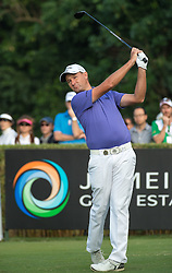 December 11, 2016 - Hong Kong, Hong Kong S.A.R, China - Final round of the 58th Hong Kong Open at The Hong Kong Golf Club Fanling, Hong Kong, Hong Kong SAR, China. Sam Brazel takes the trophy by one stroke with a birdie on the 18th. Brazel tees off on the 17th hole. (Credit Image: © Jayne Russell via ZUMA Wire)