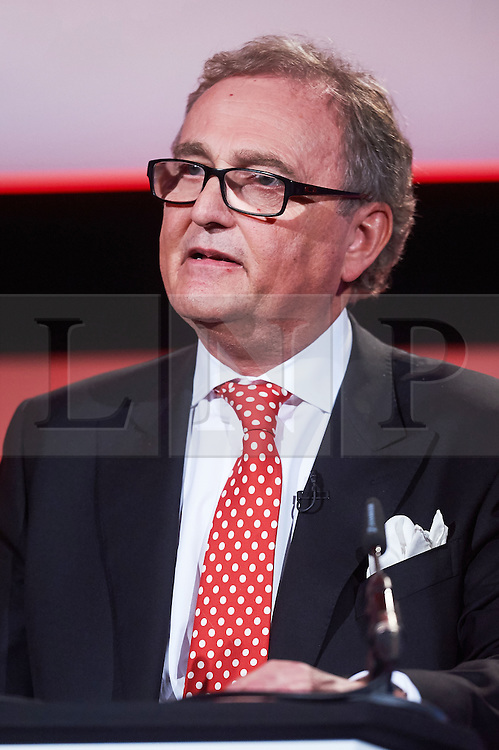© Licensed to London News Pictures. 03/03/2016 London UK. John Longworth Director General of the British Chambers of Commerce has resigned from his post makes his controversial speech in support of Brexit at The British Chamber of Commerce Annual Conference 2016 at The QE ll Conference Centre, Westminster.<br /> Photo credit : Simon Jacobs/LNP