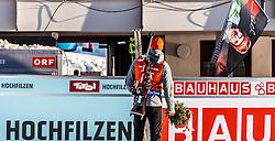 11.02.2017, Biathlonarena, Hochfilzen, AUT, IBU Weltmeisterschaften Biathlon, Hochfilzen 2017, Sprint Herren, Flowerzeremonie, im Bild Sieger und Weltmeister Benedikt Doll (GER, Goldmedaillen Gewinner) // World Champion and Gold Medalist Benedikt Doll of Germany  during Flower Ceremony of Men' s Sprint of the IBU Biathlon World Championships at the Biathlonarena in Hochfilzen, Austria on 2017/02/11. EXPA Pictures © 2017, PhotoCredit: EXPA/ JFK