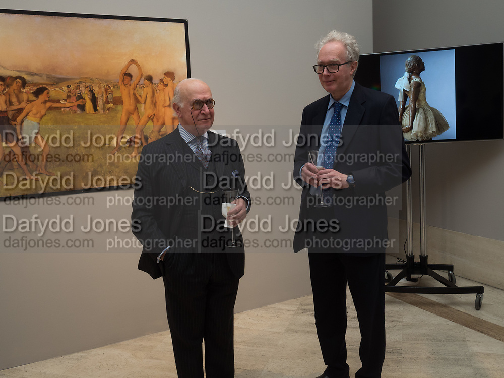 GEORGE TOUZENS; CHARLES CHOLMONDELEY, Degas's The Little Dancer at Stair Sainty Gallery, Dover st. London. 26 April 2017