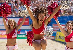 31.07.2015, Strandbad, Klagenfurt, AUT, A1 Beachvolleyball EM 2015, im Bild die Steyr Dancers // during of the A1 Beachvolleyball European Championship at the Strandbad Klagenfurt, Austria on 2015/07/31. EXPA Pictures © 2015, EXPA Pictures © 2015, PhotoCredit: EXPA/ Mag. Gert Steinthaler