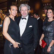 NLD/Amsterdam/20141211- Opening Masters of LXRY 2014, Mark Teurlings, partner Odette en vrienden