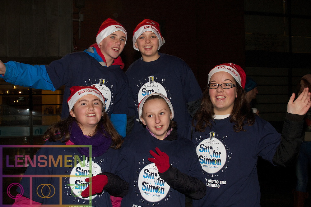 GIANT KARAOKE SESSION TO LAUNCH SING FOR SIMON THIS CHRISTMAS IN MEETING HOUSE SQUARE, DECEMBER 2, 4.30PM.. ..At 4.30pm on Sunday, December 2nd at Meeting House Square in Temple Bar, the Simon Community will launch this year's nationwide Sing for Simon campaign with a spectacular karaoke rendition of the wonderfully festive carol Merry Christmas Everyone...The event will also feature a special screening of a sing-along karaoke video featuring Jape, Zig & Zag, Miriam O'Callaghan as well as many others...Please come along and bring your friends and family for what will be a spectacular fun-filled event. After the rendition of Merry Christmas Everyone  Simon would like to invite everybody to stay and join them for some mince pies and lots of merriment!..Sing for Simon runs from Dec 1 until Christmas Eve and raises much-needed funds to help the Simon Community as they continue to provide vital services to the most vulnerable people in our society... ..What: Dublin Simon Community Giant Karaoke Session to launch 'Sing for Simon'.. When: Sunday, December 2nd at 4.30pm.. Where: Meeting House Square.. Who:  Over 100 Sing for Simon participants, staff, volunteers and supporters..