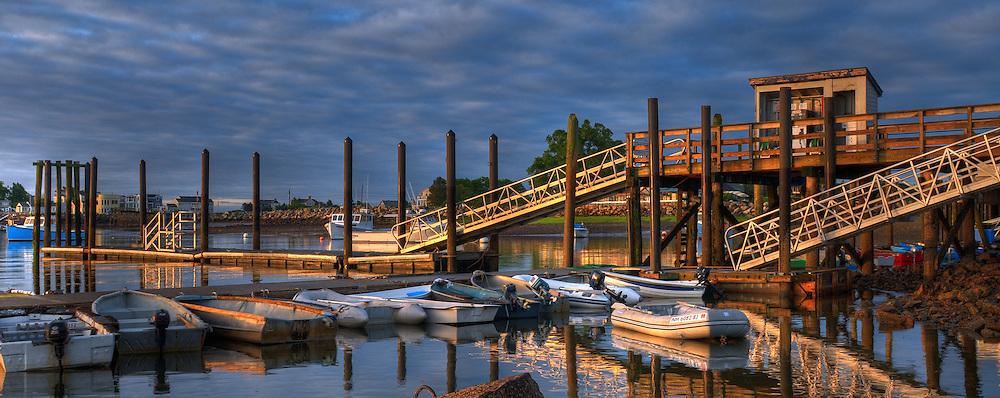 Dinghies in Rye Harbor