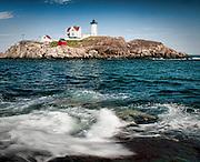 Cape Neddick Lighthouse, Nubble Island, York, Maine; April 2010