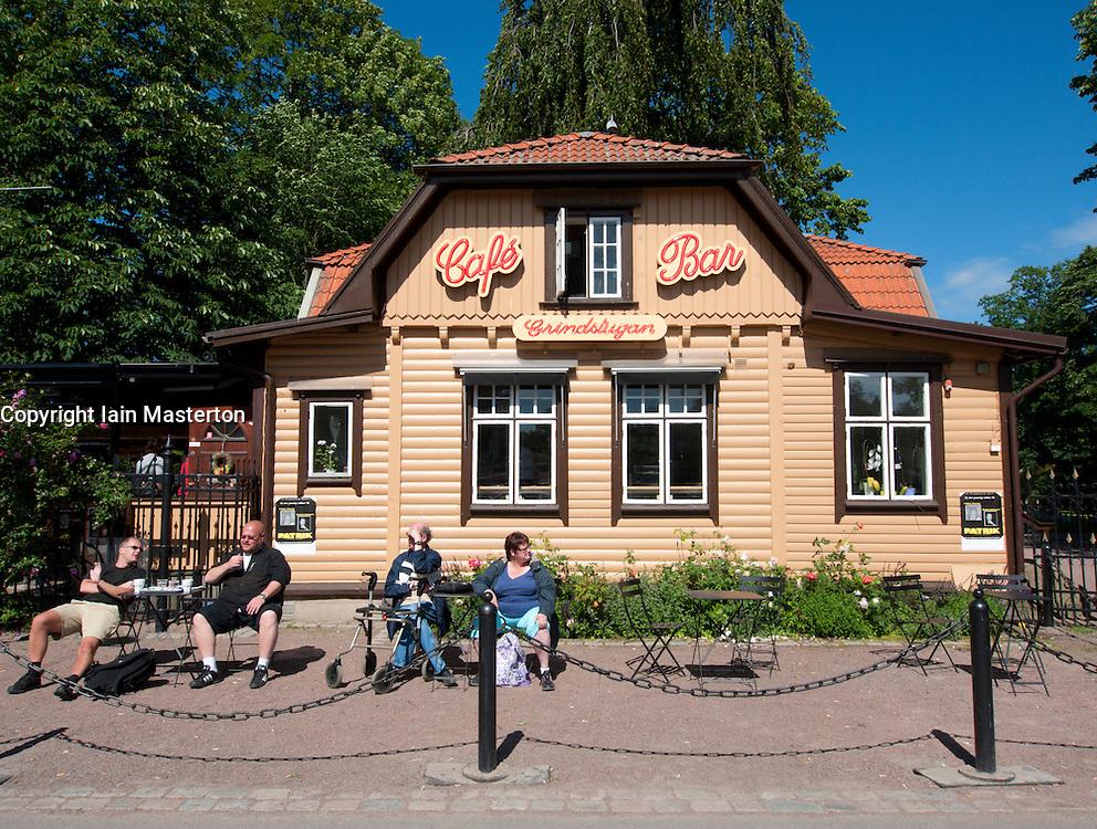 Cafe at Tradgardsforeningen Park in Gothenburg Sweden