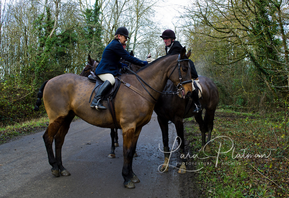 a day with The Duke of Beaufort Hunt stopping for spot of rum