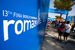 Visitors of Village Roma09 at 13th FINA World Championships Rome 2009, on July 25 2009, at Foro Italico, Rome, Italy. (Photo by Vid Ponikvar / Sportida)