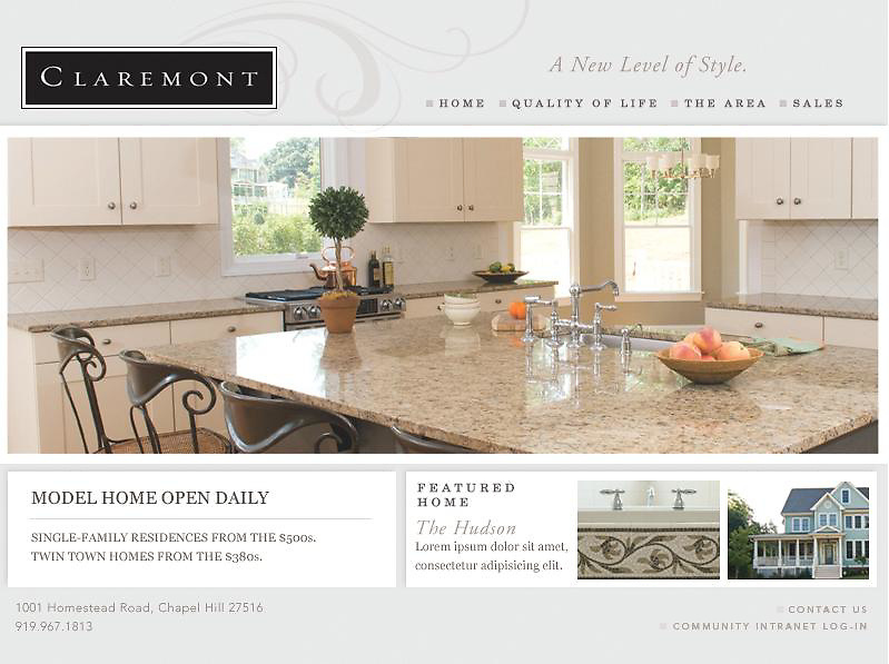 Ad Layout for Claremont Community