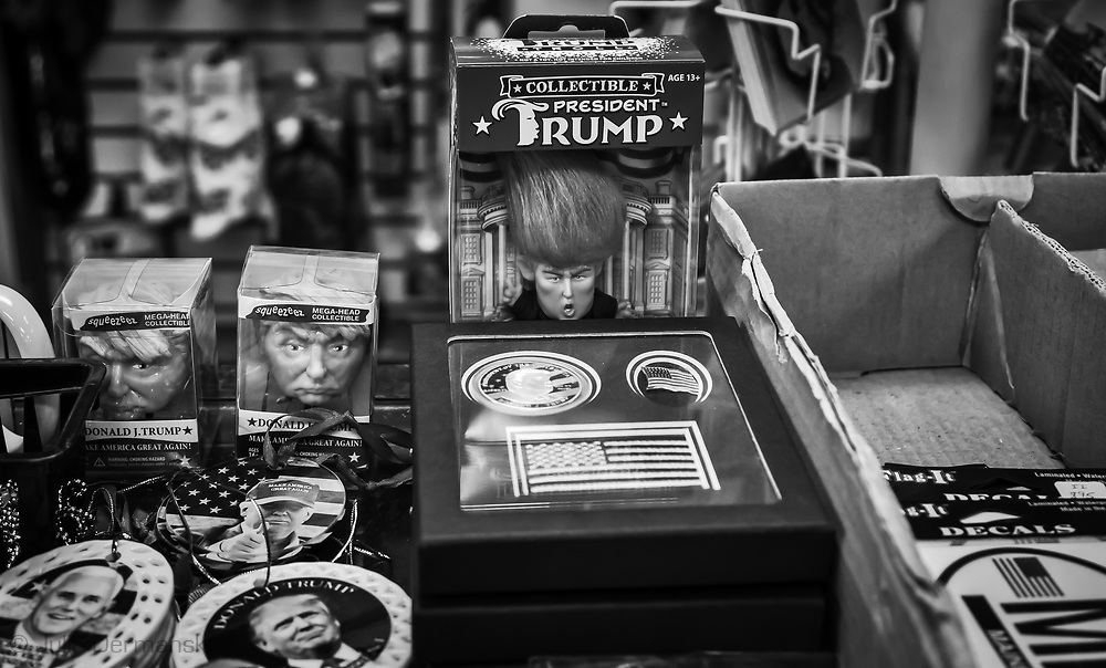Trump stuff for sale at gift shop in Gettysburg PA