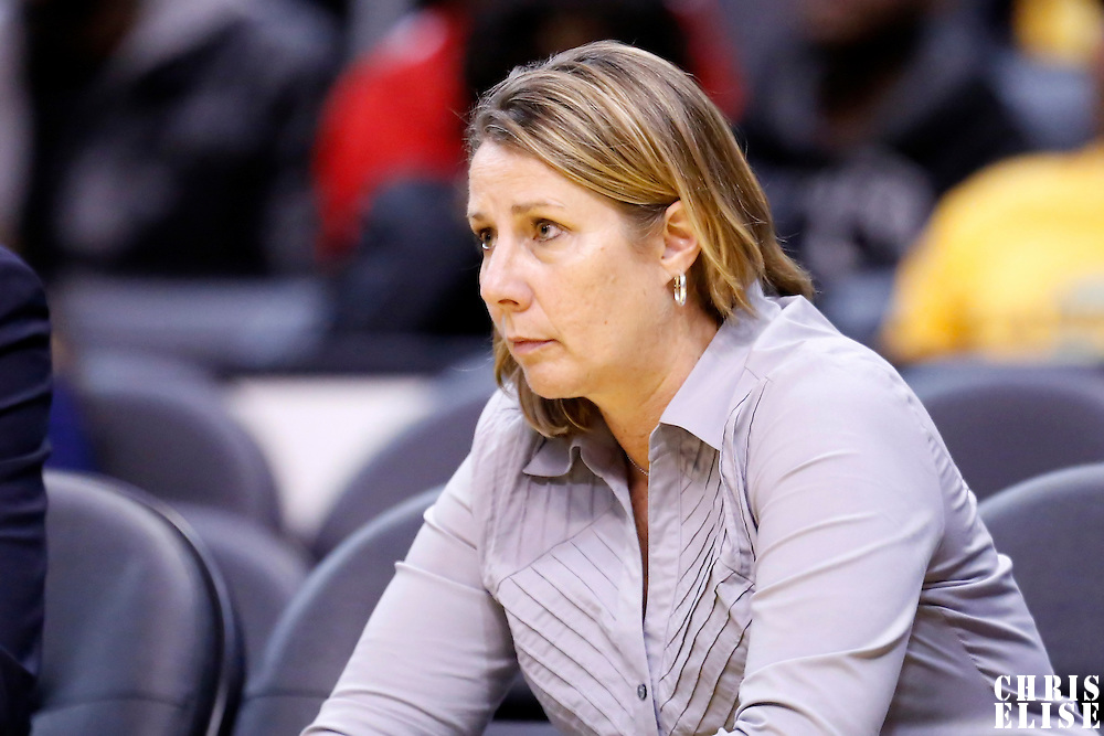 17 June 2014: Minnesota Lynx head coach Cheryl Reeve is seen during the Minnesota Lynx  94-77 victory over the Los Angeles Sparks, at the Staples Center, Los Angeles, California, USA.