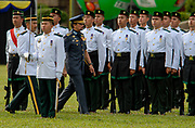 HM the Sultan of Brunei inspects his troops at National Day celebrations, Bandar Seri Begawan
