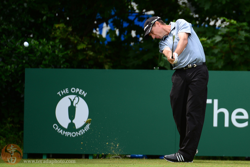 July 21, 2012; St. Annes, ENGLAND; Steven Alker tees off on the 1st hole during the third round of the 2012 British Open Championship at Royal Lytham & St. Annes Golf Club.