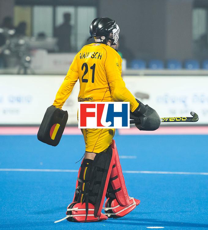 BHUBANESWAR - keeper Vincent Vanasch (Bel)  tijdens de Hockey World League Final wedstrijd Belgie-Nederland (3-0).   COPYRIGHT KOEN SUYK