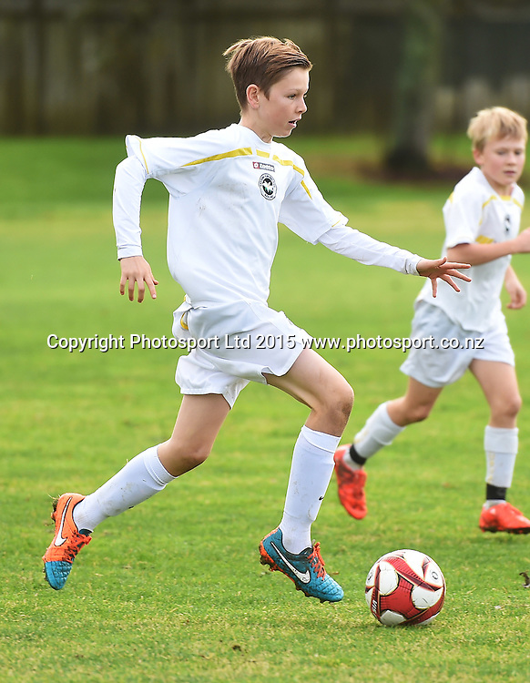 Junior Soccer / Football. Eastern Suburbs 12th grade white v Papakura. AFF competition. Auckland. New Zealand. Saturday 4 July 2015. Photo: Andrew Cornaga/www.photosport.co.nz