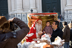 Santa Claus for christmas day in Navona Square, Rome, Italy
