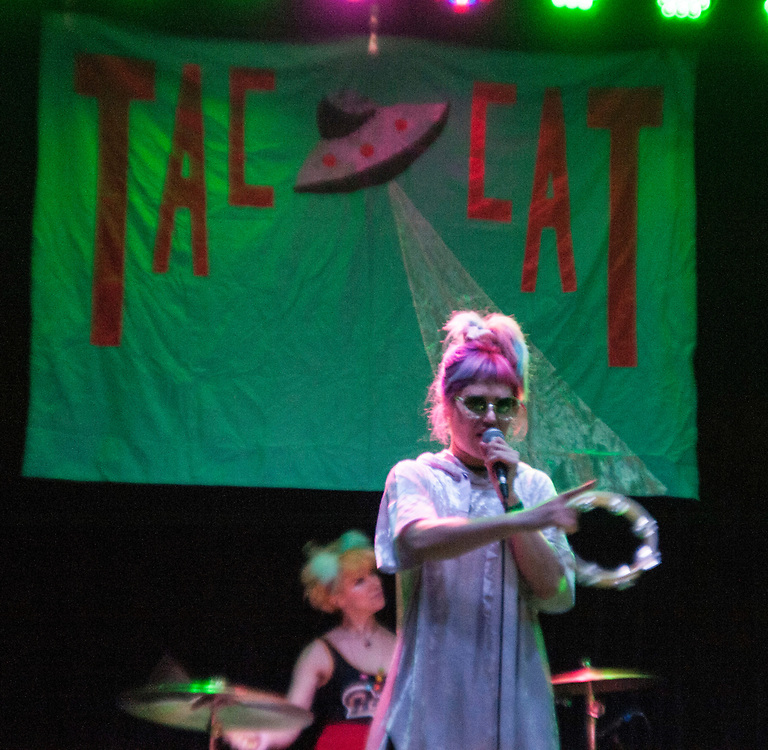 Lelah Maupin, left and Emily Nokes of Tacocat performing at the Constellation Room in Santa Ana, CA, April 19, 2017