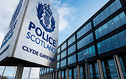 View of Police Scotland headquarters at Clyde Gateway in Glasgow, Scotland, United Kingdom