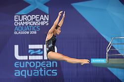 Germany's Maria Kurjo during the Mixed Team Diving Final during day five of the 2018 European Championships at the Royal Commonwealth Pool, Edinburgh.