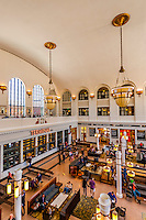 The Great Hall of the newly renovated Union Station in Downtown Denver, Colorado USA.