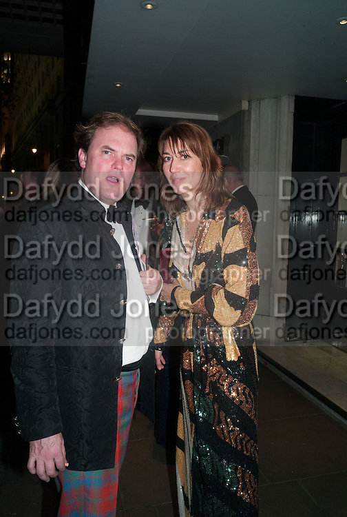 LORD DALMENY;MRS. ROBIE BUXTON, Game & Wildlife Conservation Trust's Ball. Savoy Hotel. London. 6 November 2013.