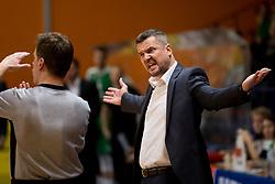 Jovan Beader, head coach of KK Helios Suns during basketball match between KK Helios Suns and KK Petrol Olimpija in Playoffs of Liga Nova KBM 2017/18, on March 26, 2018 in Hala Kominalnega Centra, Domzale, Slovenia. Photo by Urban Urbanc / Sportida