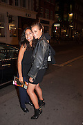 ROSARIO DAWSON; YASMIN LE BON, West End opening of RSC production of Julius Caesar at the Noel Coward Theatre on Saint Martin's Lane. After-party  at Salvador and Amanda, Gt. Newport St. London. 15 August 2012.
