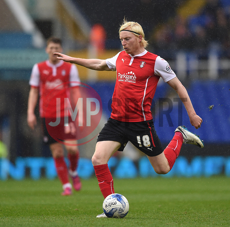 Rotherham United's Ben Pringle in action during the Sky Bet Championship match between Birmingham City and Rotherham United at St Andrew's Stadium on 3 April 2015 in Birmingham, England - Photo mandatory by-line: Paul Knight/JMP - Mobile: 07966 386802 - 03/04/2015 - SPORT - Football - Birmingham - St Andrew's Stadium - Birmingham City v Rotherham United - Sky Bet Championship