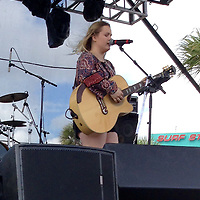 Shelby Brown, 18, Gulf Shores, Alabama performs at the Shrimp Festival on the east stage.