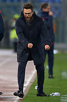 Esultanza din Eusebio Di Francesco, Roma coach.<br /> Roma 16-12-2017  Stadio Olimpico<br /> Campionato Serie A, <br /> AS Roma - Cagliari<br /> Foto Antonietta Baldassarre / Insidefoto